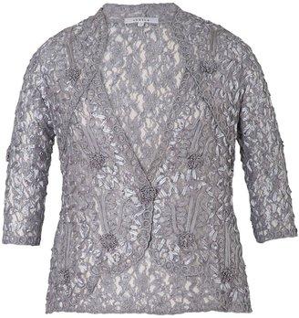 Chesca Cornelli Trimmed Lace Jacket