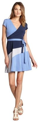 Max & Cleo blue colorblock stretch jersey 'Lily' dress