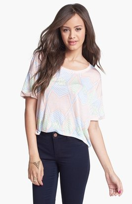 Painted Threads Print Tee (Juniors) Peach X-Small