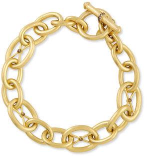 Jude Frances Luxe Link 18k Gold & Gray Diamond Bracelet