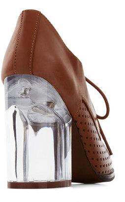 Jeffrey Campbell Malt Shop Heel in Milk Chocolate