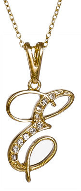Max & Chloe Collection V E Initial Pendant Necklace