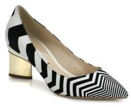Nicholas Kirkwood Zig Zag Leather & Suede Pumps