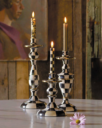 Mackenzie Childs MacKenzie-Childs Courtly Check Candlesticks