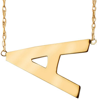 JCPenney FINE JEWELRY Personalized Gold-Filled Sideways Initial Necklace