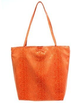 "Carlos Falchi 595-890"" Orange Microfiber Small Tote"