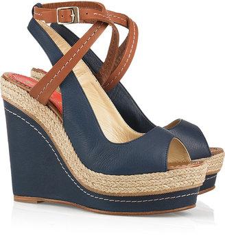 Paloma Barceló Velati leather wedge sandals