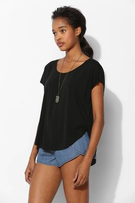 Urban Outfitters Mouchette Drapey Shirttail Tee