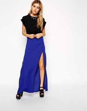 Asos Maxi Skirt In Cheesecloth