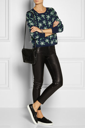 Emma Cook Star-patterned wool-blend sweater