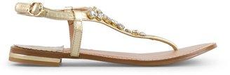 C. Wonder Nappa Leather Crystal Thong Sandal