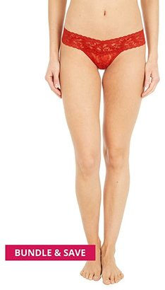 Hanky Panky Petite Signature Lace Low Rise Thong (Black) Women's Underwear