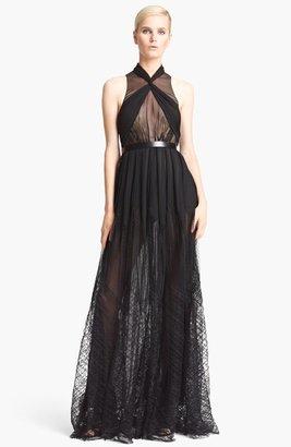 Jason Wu Draped Tulle & Chiffon Gown