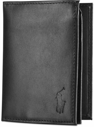 Polo Ralph Lauren Men's Wallet, Burnished Billfold Wallet with Window $85 thestylecure.com
