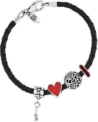 Prerogatives Sterling Key to My Heart Bead Bracelet Set
