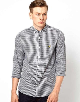 Lyle & Scott Shirt with Gingham Check