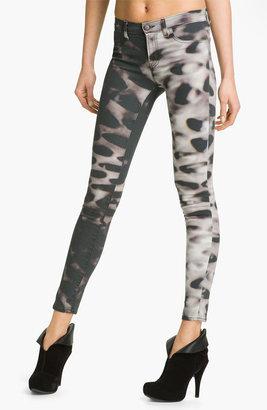 J Brand Print Skinny Leg Jeans (Glacier)