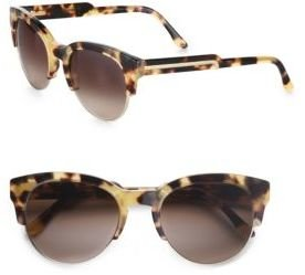 Stella McCartney Acetate & Metal Cat's-Eye Sunglasses/Yellow Tortoise