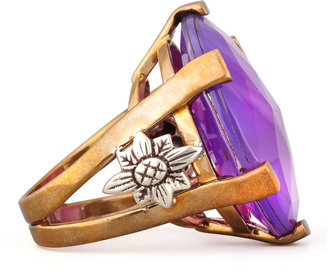 Stephen Dweck Oval Purple Agate Statement Ring