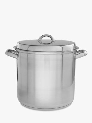John Lewis & Partners Classic Stainless Steel Stockpot, 26cm, 11L