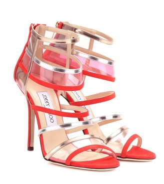 Jimmy Choo Maitai leather and suede sandals