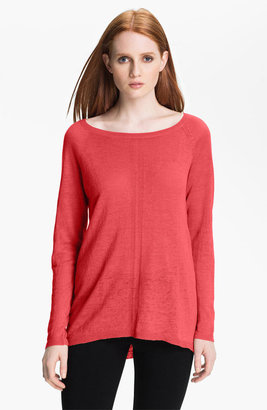 Linen by Cashmere Cashmere Bateau Neck Linen Knit Sweater