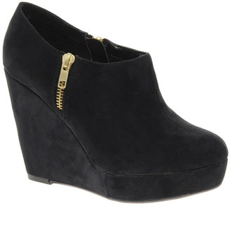 New Look Swimmer Zip Side Wedge Shoe Boots