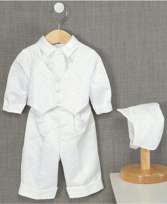 Lauren Madison Baby Boys' Hat & Suit Christening Set
