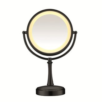 Conair Touch Control Double-Sided Lighted Mirror, Matte Black Finish $54.99 thestylecure.com