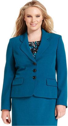 Kasper Plus Size Jacket, Crepe Blazer