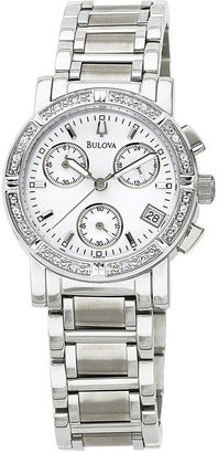Bulova Womens Diamond-Accent Watch 96R19