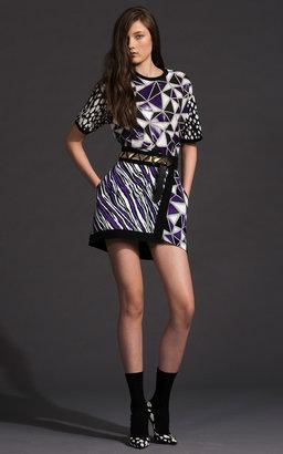 Fausto Puglisi Zebra Stripe Cady Wrap Skirt