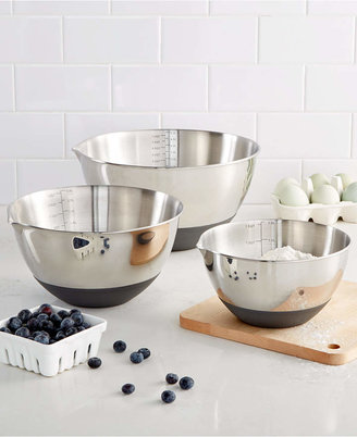 Martha Stewart Collection Set of 3 Non-Skid Mixing Bowls with Measurements