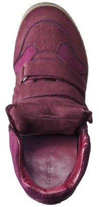 Xhilaration Women's Kahsha High Top Sneaker Wedge - Burgundy