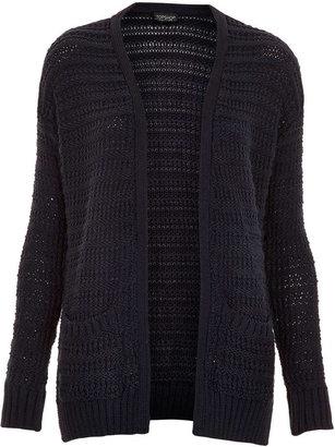 Topshop Knitted Step Hem Cardi