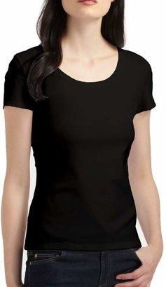 Lafayette 148 New York Swiss Cotton Rib Scoopneck T-Shirt