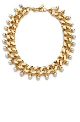 Swarovski Fallon Jewelry Imitation Pearl Biker Choker Necklace