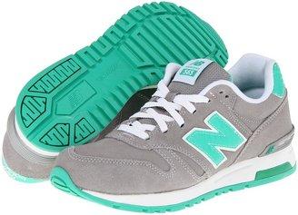 New Balance Classics - WL565 (Light Grey/Green Gecko) - Footwear