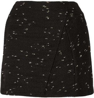 3.1 Phillip Lim Wrap-effect tweed mini skirt