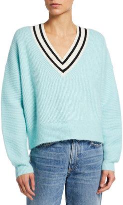 Tanya Taylor Millie V-Neck Wool-Blend Sweater