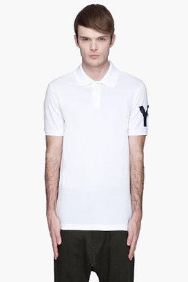 Y-3 White logo-printed Polo