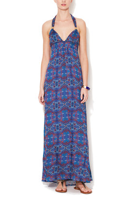 OndadeMar Silk Twist Maxi Dress