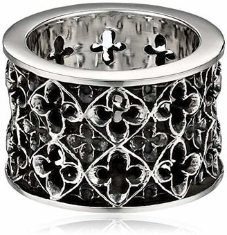 King Baby Wide Relic Band Sterling Silver Ring, Size 7 $295.60 thestylecure.com