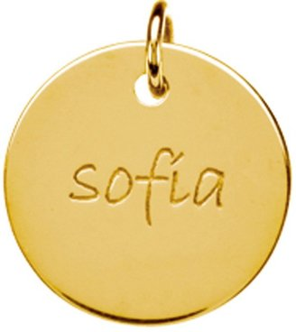 Posh Mommy 18K Gold-Plated Large Disc Pendant