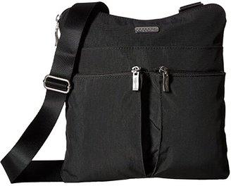 Baggallini Legacy Horizon Crossbody (Charcoal/Fuchsia) Cross Body Handbags
