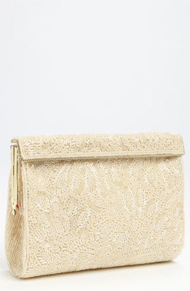 Nina 'Meadow' Beaded Frame Clutch - Black
