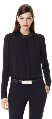Theory Kyna Top in Double Georgette Silk