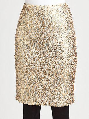 Josie Natori Lace/Sequin Skirt