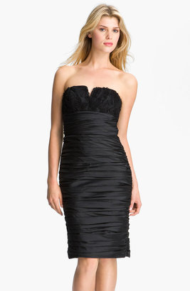 Monique Lhuillier ML Bridesmaids Ruched Strapless Taffeta Dress (Nordstrom Exclusive)