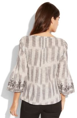Lucky Brand Ikat Embroidered Peasant